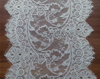"""10ft Ivory Lace Table runner 13""""  white  table runners wedding  table runners R112501"""