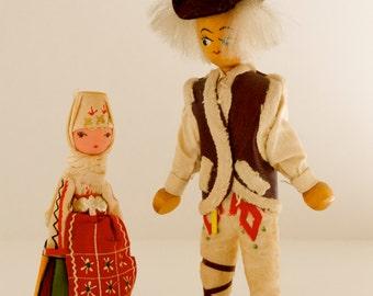 Soviet vintage Trachtenpüppchen and costume man