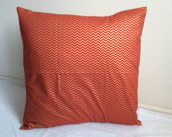 """Red and Gold Chevron 18"""""""