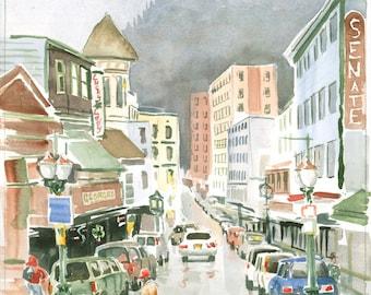 South Franklin St Juneau Alaska by Colin Herforth