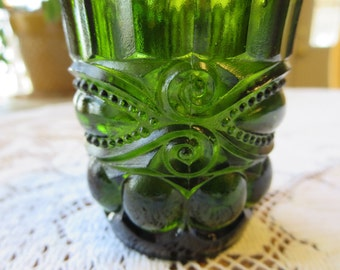 Vintage Fancy Dark Green Toothpick Holder