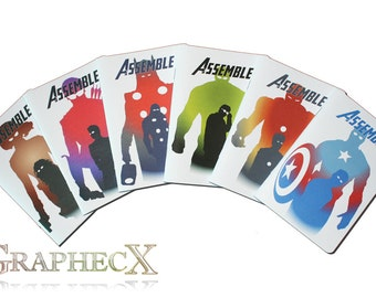 Avengers, Captain America, Iron Man, Thor, Hulk, Hawkeye, Black Widow Inspired notebook journal