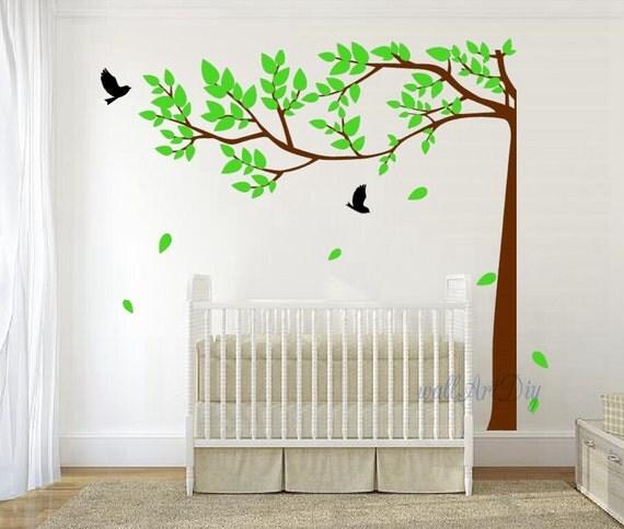 Albero parete decalcomanie albero parete stencil di wallartdiy - Stencil parete albero ...