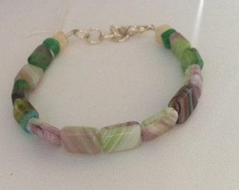 Rectangle bead bracelet