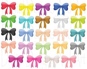 Colorful bow clipart, Ribbon bows clip art, Colorful ribbon bows, Rainbow bows clipart, Invitation Clipart Design Elements, Banner clipart