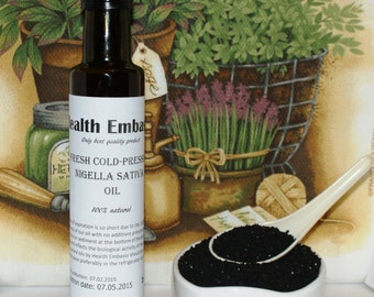 Fresh Cold Pressed Nigella Sativa/Black Cumin Oil - Health Embassy - Organic