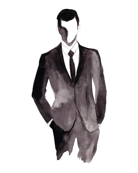 how to draw a man in a suit