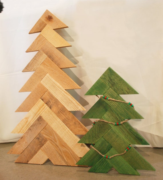 wood christmas tree rustic christmas tree pallet wood