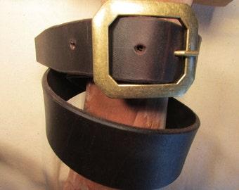 "1.75"" Wide, Heavy Leather Belt"