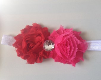 SALE! Red/ Hot pink Baby Headband