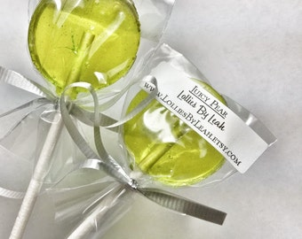 12 Pear Lollipops
