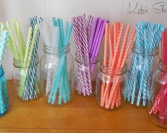 Reusable Drink Straws in 13 colors! Red, Purple, Teal, Blues, Greens, Coral & More!