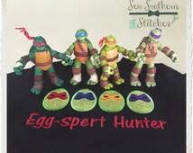 Ninja Easter Eggs Applique Design ~ Turtle Eggs Design ~ Instant Download