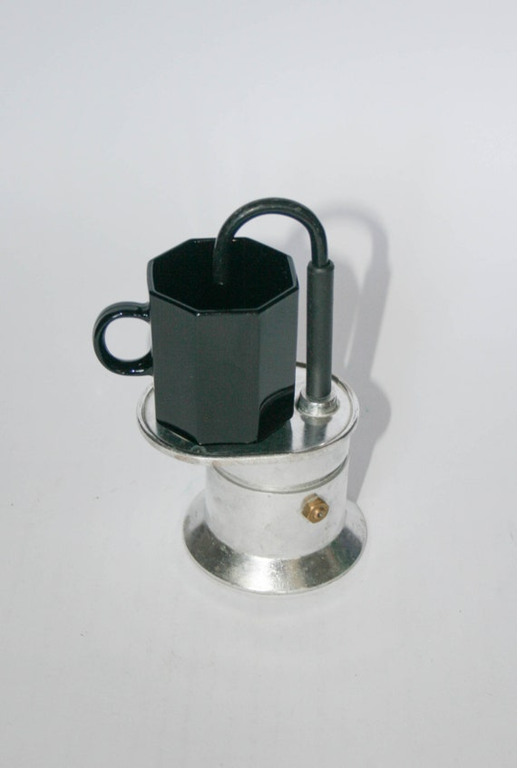 Italian Coffee Maker One Cup : Vintage Rare Italian coffee maker Stovetop 1 cup