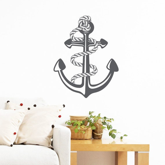 Nautical Anchor Wall Decal Vinyl Sticker by TrendyWallDecals