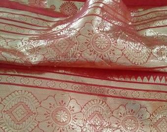 gold metallic sari etsy
