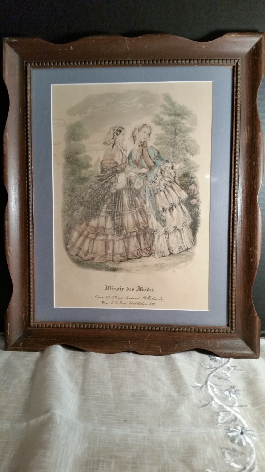 Miroir des modes victorian print vintage french ladies print for Miroir des modes value