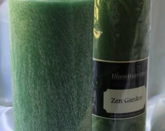 Zen Garden Large Round Palm Pillar Candle