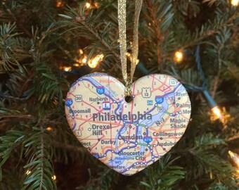 Philadelphia Map Ornament