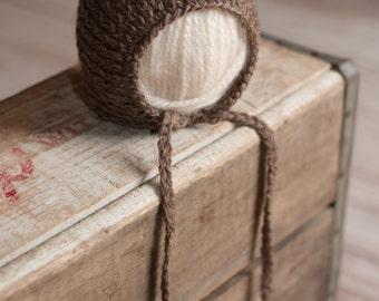 Brown Knit Knitted Newborn Pixie Hat Bonnet Prop 39 COLORS