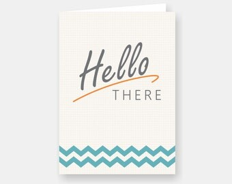 """Printable """"Hello There"""" Card (PDF Download)"""