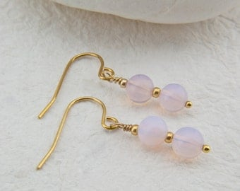 Lela Pink Opalite Earrings