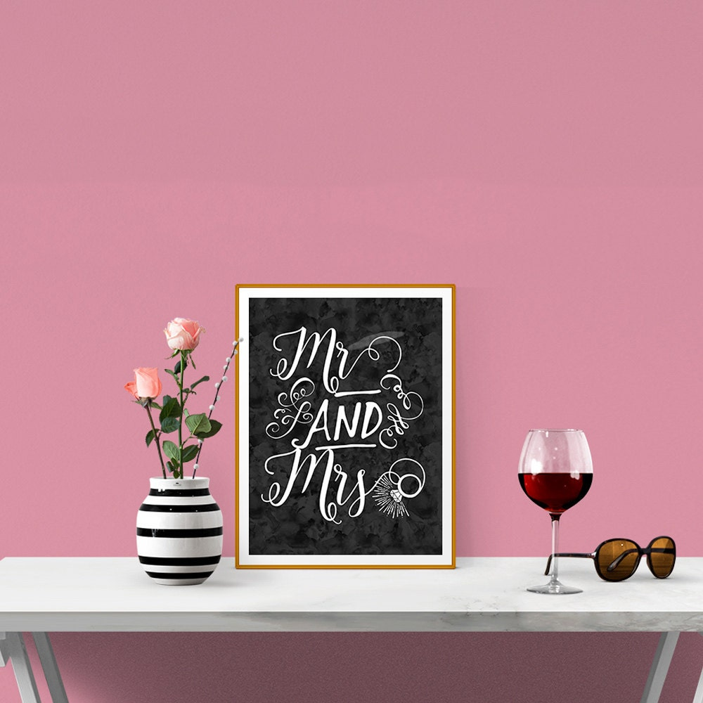 Wedding Gifts Mr And Mrs: 8x10 Mr And Mrs Print Mr And Mrs Wedding Gift By RodeDigital