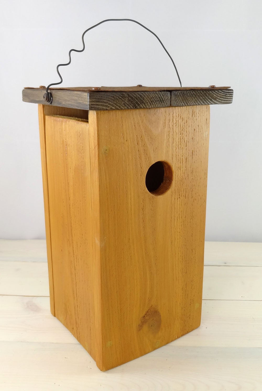 Modern Bird House Handcrafted Outdoor Wooden Bird Houses For