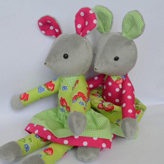 Pdf Sewing Pattern Mouse Soft Toy Stuffed Doll Plushie