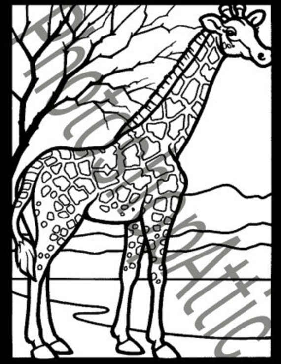 Mosaic Coloring Pages Pdf : Mosaic animals pages instant download pdf coloring birthday