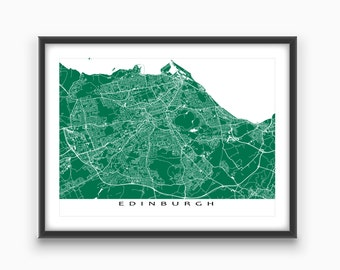 Edinburgh Map Print, Edinburgh Art, Edinburgh Scotland, UK City Map