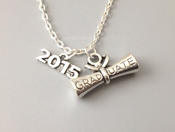 2015 graduate diploma necklace graduation necklace by