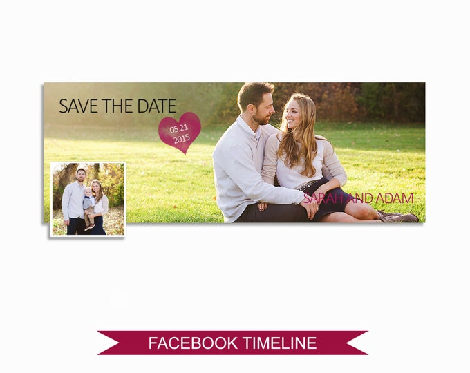 Facebook Timeline Cover Photoshop Template - FBEM02