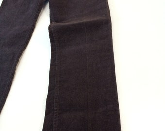 Levis 519 boot cut corduroy jeans 31 x 32 NOS deep chocolate brown Talon zipper