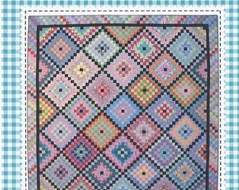Fiesta Wear quilt pattern in two sizes by Sandy Klop for American Jane Patterns #149  K0093