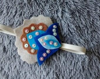 Felt Headband / Flower Headband / Felt Accessories/ Handmade