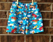 Toddler Summer Boy shorts - Boys airplane shorts Outfit - Summer shorts  - Boys plane summer shorts - 3T boy shorts