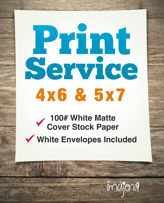 Print Service Invitations Birthday Cards 4x6 5x7 100