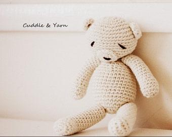 Newborn Photo Prop, Crochet Teddy Bear, Crochet Bear Newborn, Tiny First Baby Bear, Classic Teddy Bear, Amigurumi Toy, Christmas gift