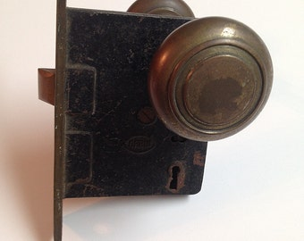Vintage Mortise with Door Knobs