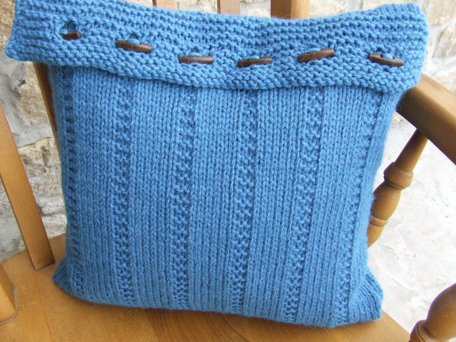 Knitting Pillow Cover : Knitted pillow cover knit cushion by wooliebits
