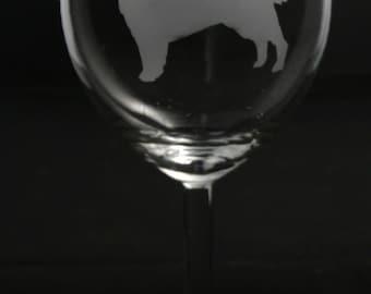 Golden Retriever Wine Glass
