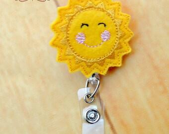 Sunshine retractable I.D Badge reel bling  work badge