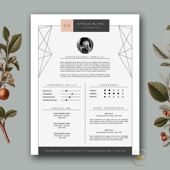 modern resume template  u0026 cover letter template for word and