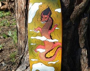 Chinese Dragon Skateboard Wall Art