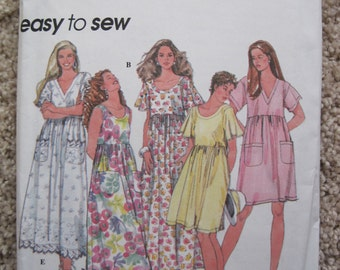 UNCUT Misses Pullover Dress in Three Lengths - Size XS to Medium - Simplicity Sewing Pattern 8923 - Vintage 1994