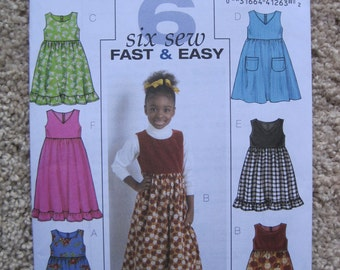 UNCUT Girls Jumper - Butterick Sewing Pattern B4906