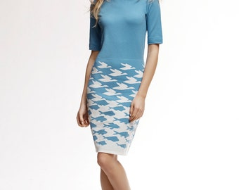 SEA & SKY Baby Blue Merino Wool Knitted Dress