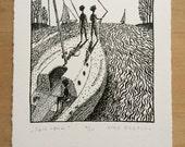 Sail Crew - Original Lithograph - by Alex Gerasev - Free Shipping
