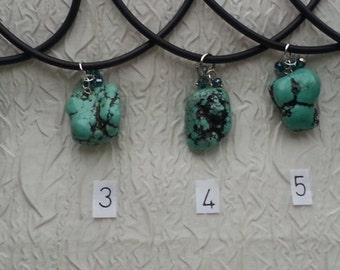 Large Turquoise stone necklace